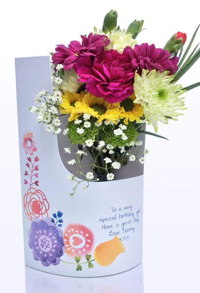 Floral Cards Fresh Flowers In A Card 1399